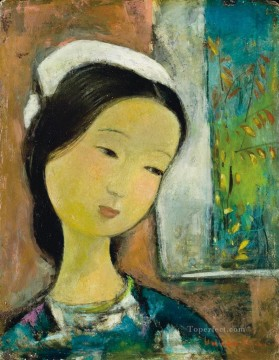 Asian Painting - VCD Jeune femme Young lady Asian