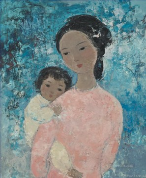 Asian Painting - VCD Mother and Child Asian