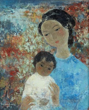 Asian Painting - VCD Mother and Kid Asian