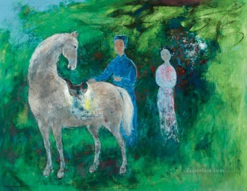 Asian Painting - VCD Spring Horse Asian