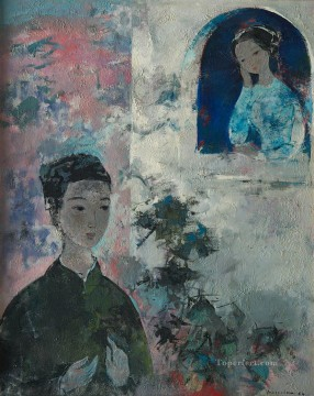 Asian Painting - VCD Watching out of Window Asian