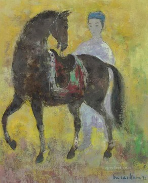 Asian Painting - VCD le cheval noir Asian