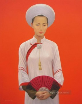 Asian Painting - Young Lady Vietnamese Asian