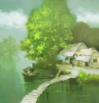 Asian Painting - A peaceful day Vietnamese Asian