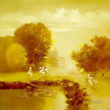 Asian Painting - Autumn Noon Vietnamese Asian