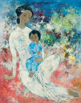 Asian Painting - VCD Maternity in Flowers Asian
