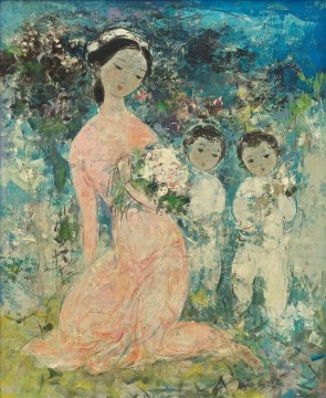 VCD Mother and Children Asian Oil Paintings