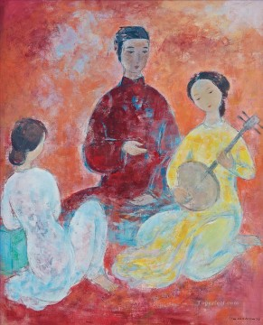 Asian Painting - VCD Playing Vietnamese Instrument Asian