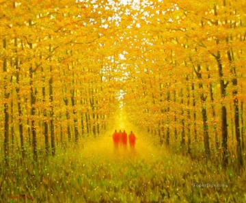 Asian Painting - MinhLong In the Autumn Vietnamese Asian