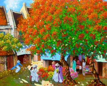 Asian Painting - Noon in Summer Vietnamese Asian