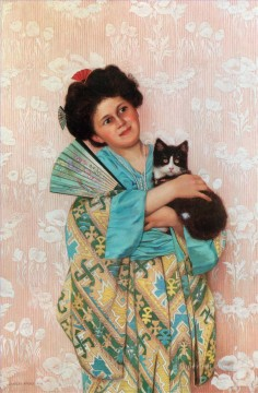 Asian Painting - A Japanese Beauty by Charles Spencelayh Asian