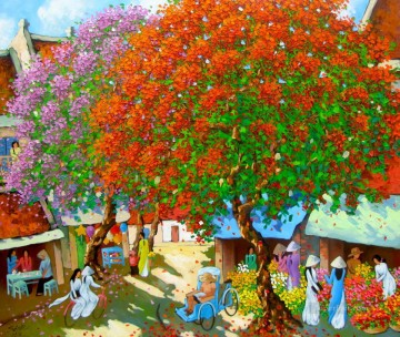 Asian Painting - In Spring Vietnamese Asian