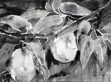 pears Oil Painting - Black and White Pears