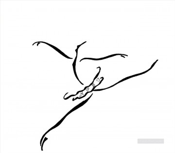 balerina ballet 2 black and white Decor Art