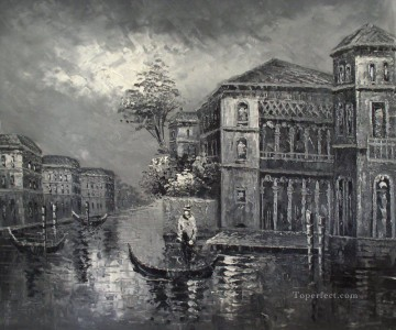 black and white Venice Oil Paintings