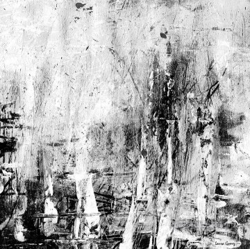 abstract Oil Painting - black and white abstract 3