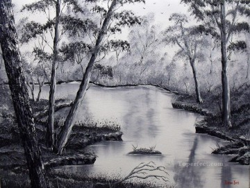 black Art - black and white stream