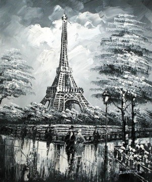 street scenes in Paris 42 black and white Oil Paintings