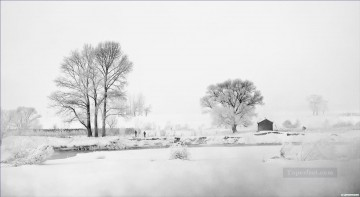 Jilin Rime Island China Black and White Oil Paintings