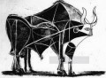 The Bull State V 1945 black and white Picasso