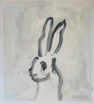 paints Canvas - bunny thick paints black and white