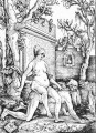 Aristotle And Phyllis Hans Baldung black and white