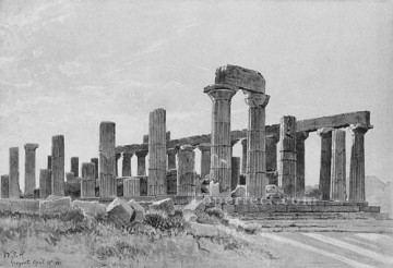 william - Girgenti scenery Luminism William Stanley Haseltine black and white