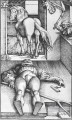 The Groom Bewitched Renaissance painter Hans Baldung black and white