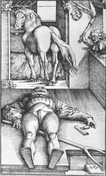 renaissance Painting - The Groom Bewitched Renaissance painter Hans Baldung black and white