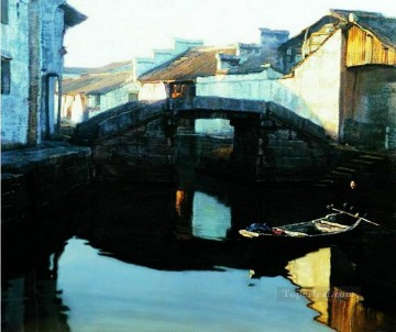 Bridge 1984 Chinese Chen Yifei Oil Paintings
