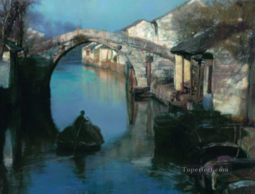 Chinese Painting - Dawn Chinese Chen Yifei