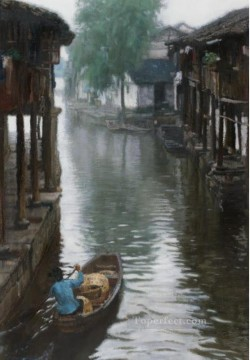 Jiangnan Countryside 1984 Chinese Chen Yifei Oil Paintings