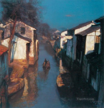 Chen Yifei Painting - River Village Series Chinese Chen Yifei