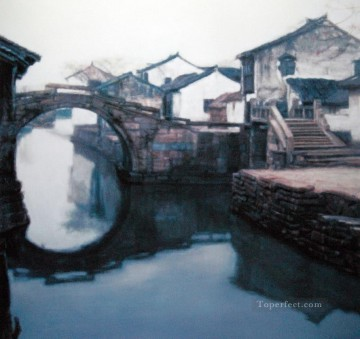 Scenery of Jiangnan Watertown Chinese Chen Yifei Oil Paintings