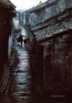 Stony Path Chinese Chen Yifei Oil Paintings