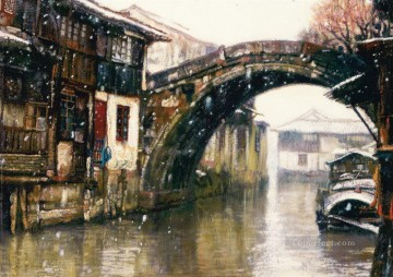 Suzhou Landscape Chinese Chen Yifei Oil Paintings