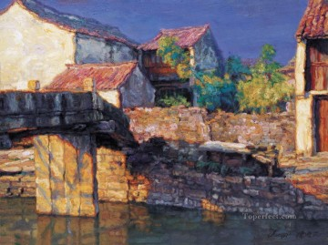 Water towns 1997 Chinese Chen Yifei Oil Paintings