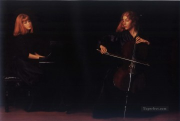Duet Chinese Chen Yifei Oil Paintings