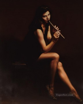 Chen Yifei Painting - Female Piper Chinese Chen Yifei