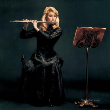 Flutist 1987 Chinese Chen Yifei Oil Paintings