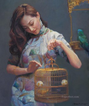 Shanghai Dream Chinese Chen Yifei Oil Paintings