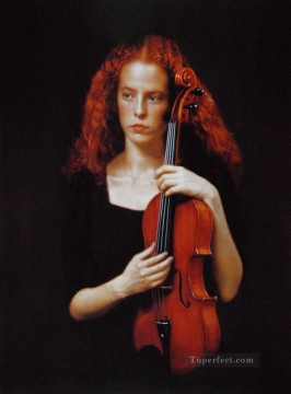 Violist Chinese Chen Yifei Oil Paintings