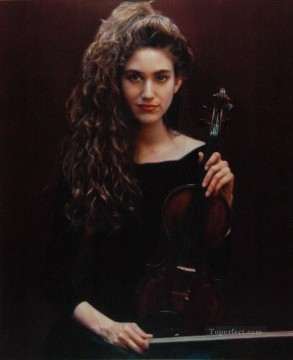 Chen Yifei Painting - Wait for the Show Chinese Chen Yifei