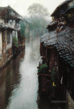 Water Towns Ripples Chinese Chen Yifei Oil Paintings