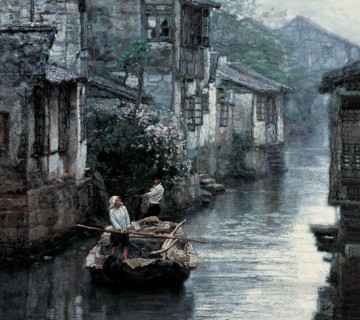 Chen Yifei Painting - Yangtze River Delta Water Country 1984 Chinese Chen Yifei