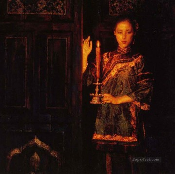 Chen Yifei Painting - yi016D Chinese painter Chen Yifei