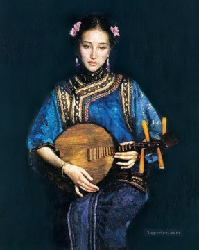 zg053cD118 Chinese painter Chen Yifei Oil Paintings