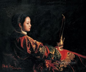 zg053cD124 Chinese painter Chen Yifei Oil Paintings