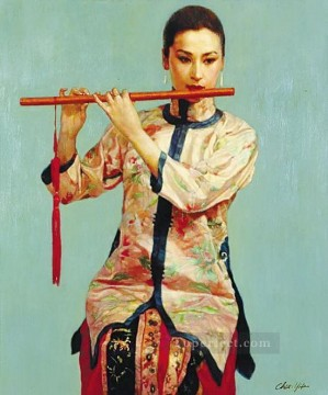 Chinese Painting - zg053cD132 Chinese painter Chen Yifei