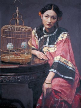 zg053cD177 Chinese painter Chen Yifei Oil Paintings